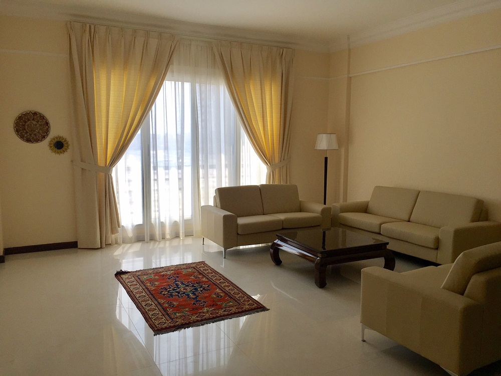 Big and bright 2 BR fully furnished apartment is available for rent in Seef-Rent Apartment Bahrain